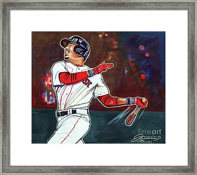 Mookie Betts Framed Print by Dave Olsen