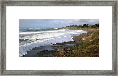 Moonstone Beach Cambria California Framed Print by Barbara Snyder