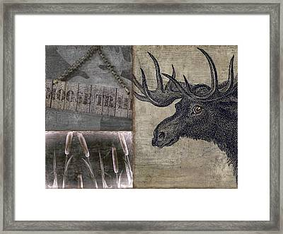 Moose Trail  Framed Print by Mindy Sommers