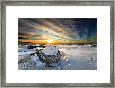 Moose's Tooth Framed Print by Ed Boudreau