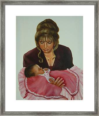 Mother And Child Framed Print by Joni McPherson