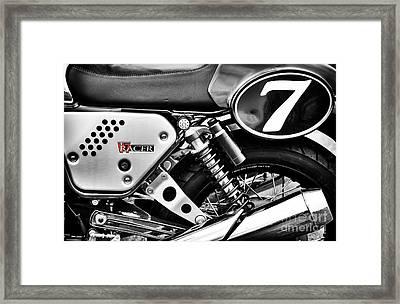 Moto Guzzi V7 Racer Monochrome Framed Print by Tim Gainey