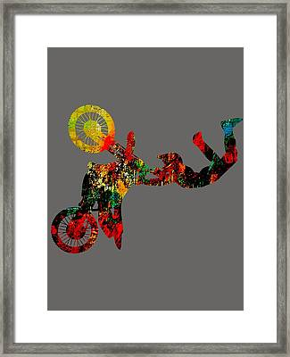 Motocross Collection Framed Print by Marvin Blaine