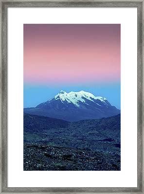 Mount Illimani, La Paz, Bolivia Framed Print by John Coletti