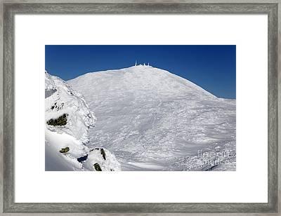 Mount Washington - White Mountain New Hampshire Usa Winter Framed Print by Erin Paul Donovan