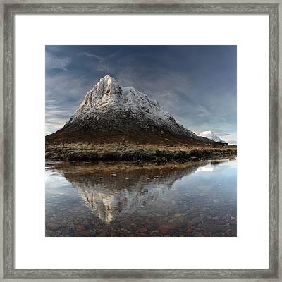 Mountain Reflection Framed Print by Grant Glendinning