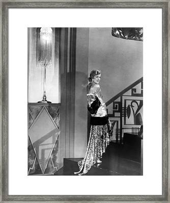 Movie Star Olga Baclanova Framed Print by Underwood Archives