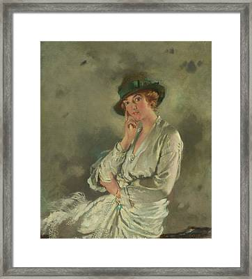 Mrs. Charles S. Carstairs Framed Print by Sir William Orpen