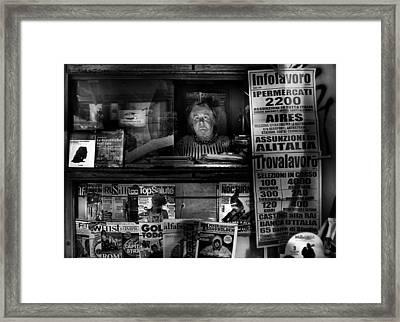 Mrs. Maria Framed Print by Antonio Grambone
