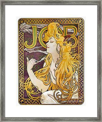 Mucha: Cigarette Papers Framed Print by Granger