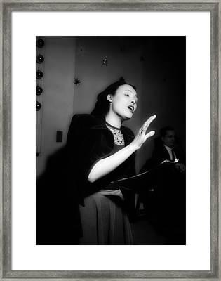 Music's Golden Era - Lena Horne 1947 Framed Print by Mountain Dreams
