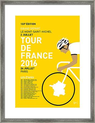 My Tour De France Minimal Poster 2016 Framed Print by Chungkong Art