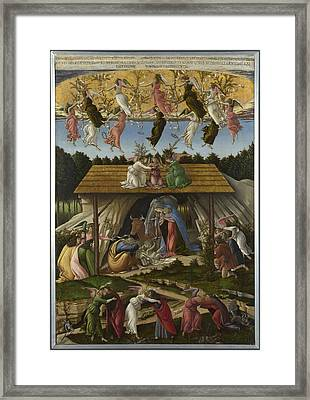 Mystic Nativity Framed Print by Sandro Botticelli