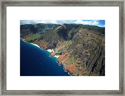 Na Pali Coast Aerial Framed Print by Peter French - Printscapes