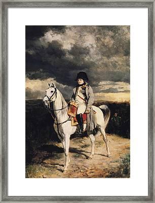 Napoleon Bonaparte On Horseback Framed Print by War Is Hell Store
