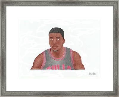 Nate Robinson Framed Print by Toni Jaso