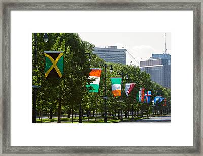 National Flags Of Various Countries Framed Print by Panoramic Images