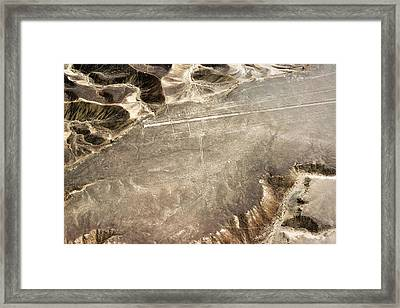 Nazca Lines Hummingbird Framed Print by Jess Kraft