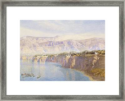 Near Sorrento Framed Print by John Brett
