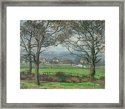 Near Sydenham Hill Framed Print by Camille Pissarro