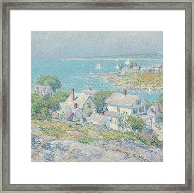 New England Headlands Framed Print by Childe Hassam