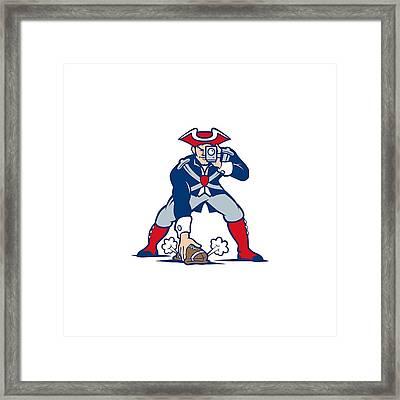 New England Patriots Parody Framed Print by Joe Hamilton