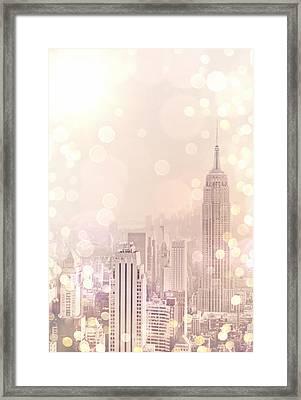 New York City - Skyline Dream Framed Print by Vivienne Gucwa