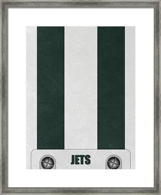 New York Jets Helmet Art Framed Print by Joe Hamilton