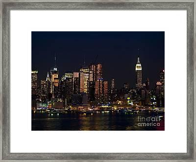 New York Skyline View Framed Print by Andrew Kazmierski