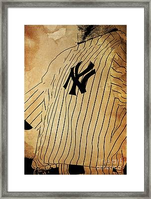 New York Yankees Baseball Team Vintage Card Framed Print by Pablo Franchi