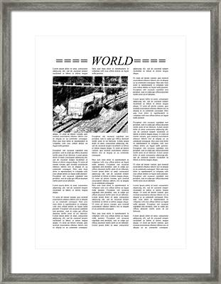 Newspaper Page With Lorem Ipsum Text Framed Print by Miroslav Nemecek
