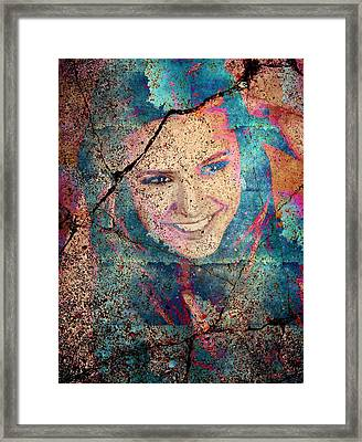 Nina Dobrev Framed Print by Svelby Art