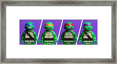 Ninja Turtles Framed Print by Samuel Whitton