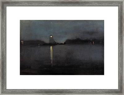 Nocturne Framed Print by James Abbott McNeill Whistler