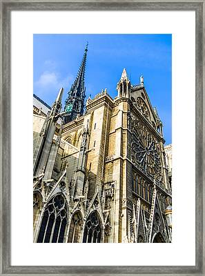 Notre Dame Cathedral In Paris Framed Print by Nila Newsom