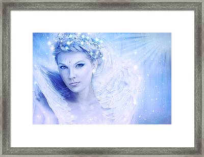 Nymph Of February Framed Print by Lilia D