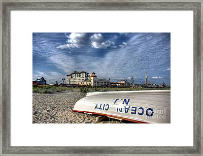 Ocean City Lifeboat Framed Print by John Loreaux