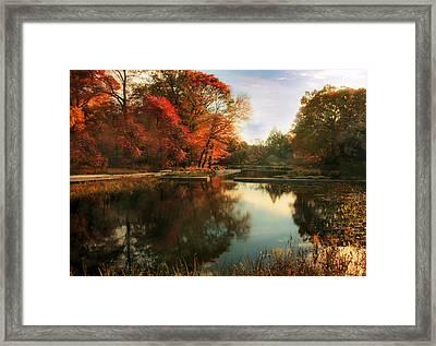 October Finale Framed Print by Jessica Jenney