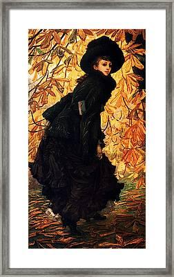 October Framed Print by James Jacques Joseph Tissot