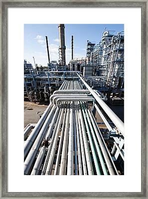 Oil Refinery Overall View Framed Print by Christian Lagereek
