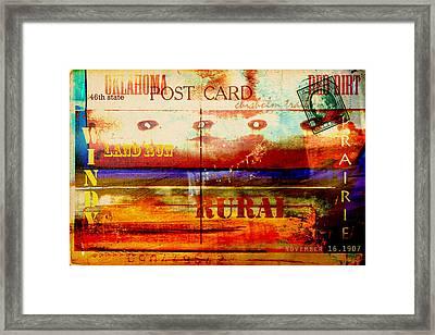 Oklahoma  Framed Print by Toni Hopper