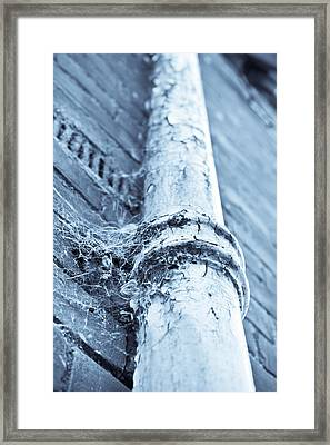 Old Drain Pipe Framed Print by Tom Gowanlock