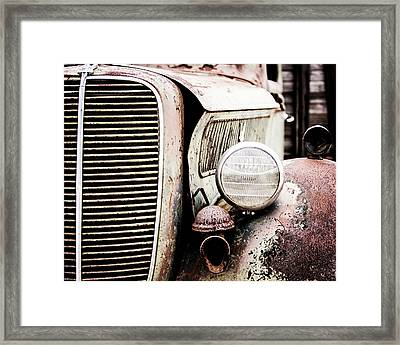 Old Farm Ford Framed Print by Scott Pellegrin