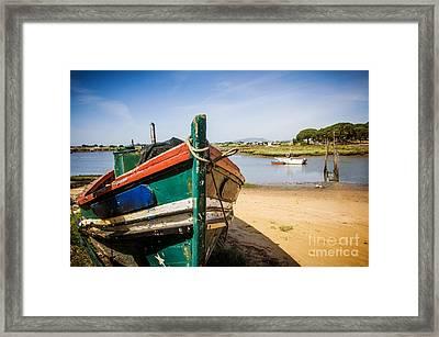 Old Fishing Boat Framed Print by Carlos Caetano
