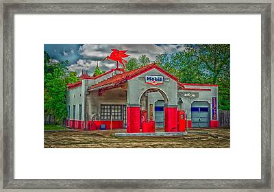 Old Gas Station Framed Print by Mountain Dreams