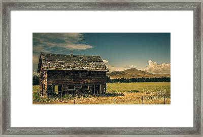 Old Homestead Framed Print by Robert Bales