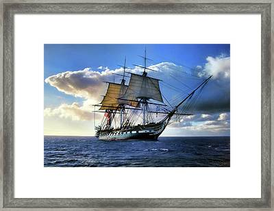 Old Ironsides Framed Print by Peter Chilelli