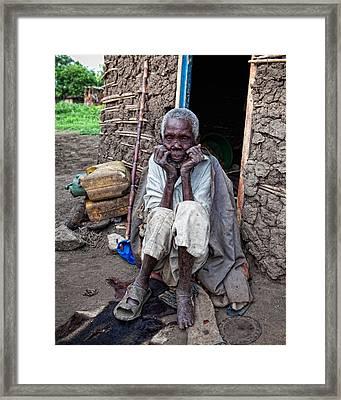 Old Man Africa Framed Print by Jennifer K