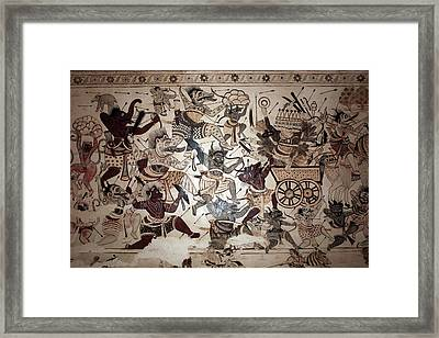 Old Paintings In Lakshmi Narayan Temple, Orchha Framed Print by Aivar Mikko