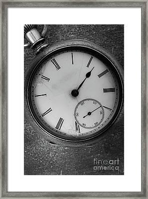 Old Pocket Watch Framed Print by Edward Fielding